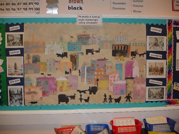 Lowry-style Townscape classroom display photo - Photo gallery - SparkleBox