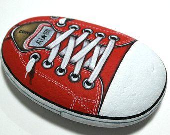 Fatto a mano viola scarpe Converse All Star È mano dipinta su