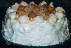 Almond and Ginger Meringue Gateaux.