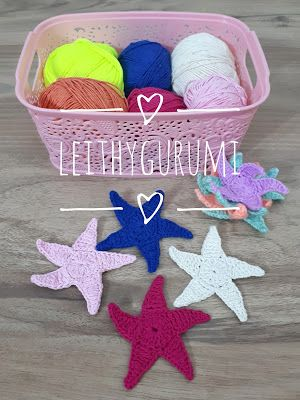 Leithygurumi: Minik Minik Yıldız Tarifi - Türkçe - Ücretsiz / Little Little Stars English Free Pattern