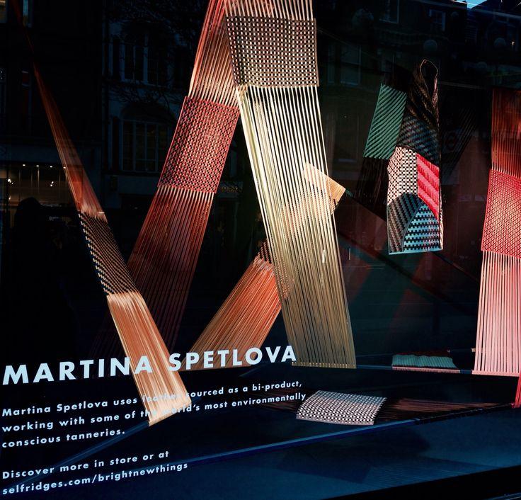 Final window display for Selfridges: bright new things