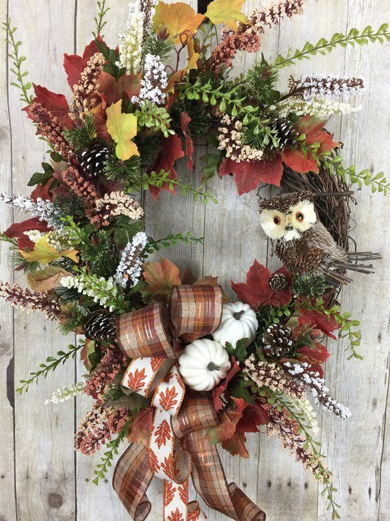 Fall Wreaths For Front Door Autumn Wreath Outdoor Fall Wreaths