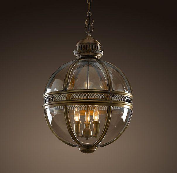 LOVE for a hallway light: Victorian Hotel Pendant Antique Brass