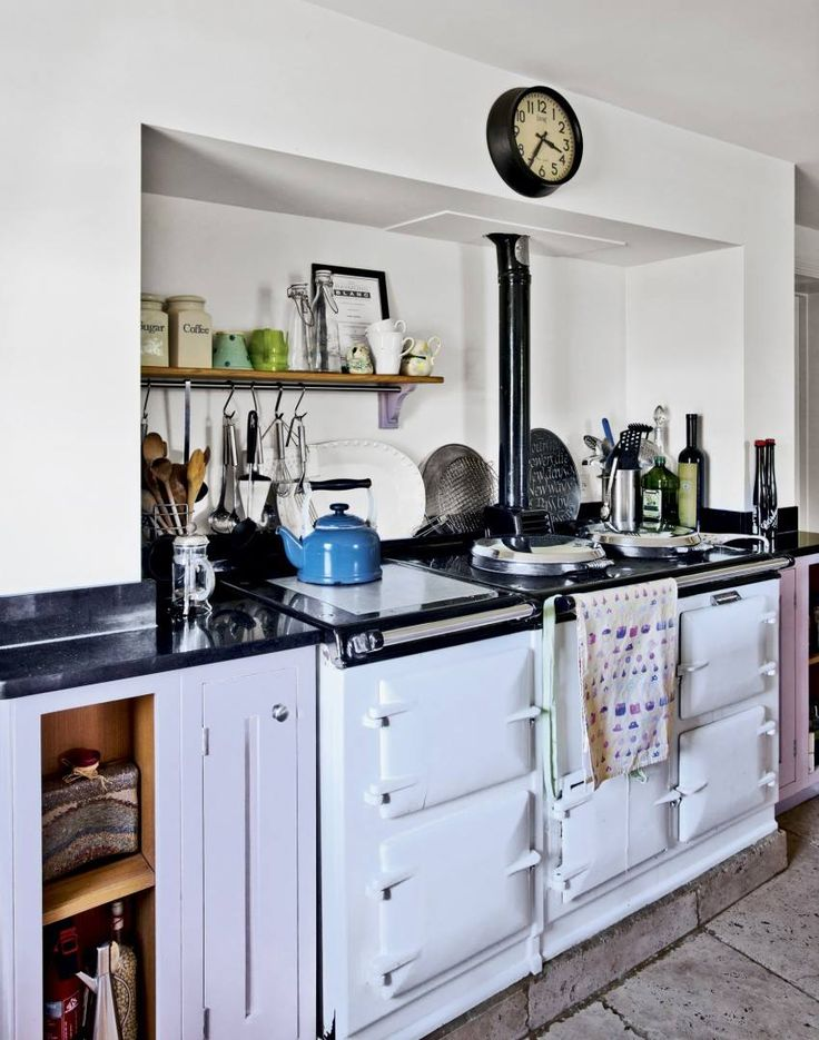 909 best aga cookers and old stoves images on pinterest for Kitchen designs with aga cookers