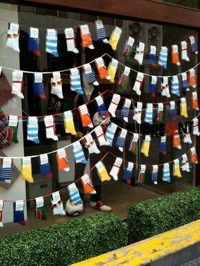 Socks Display - Yahoo 圖片搜尋結果  Cool sock display though it may not mesh super well with the current sock packaging. Maybe hanging unpackaged socks?