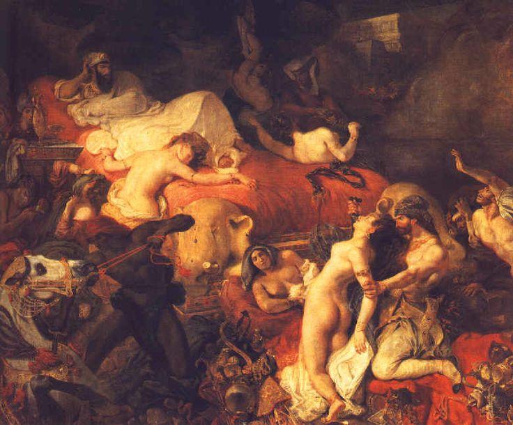 """Eugène DELACROIX  """" La Mort de Sardanapale """" (1827)  Huile sur toile  392 x 496 cm"""