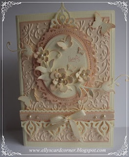 pale pink and cream card