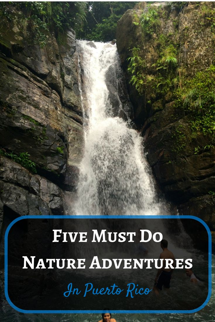 Want to swim in a waterfall or sail the Caribbean? Don't miss out on Puerto Rico and all the adventures you can have on the island. My top five things to do nature adventures in Puerto Rico.