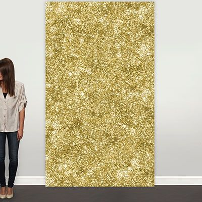 Want to make the photos from your grad party really shine? This giant gold faux glitter wall hanging makes a wonderful photo backdrop or graduation pa...