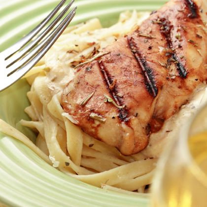 Allegro is Italian for cheerful, exactly what you get when combining the Creamy Alfredo Sauce with the subtle flavors of the Lea & Perrins Marinade for Chicken. For a more robust meal, add cooked chicken, shrimp or ham.