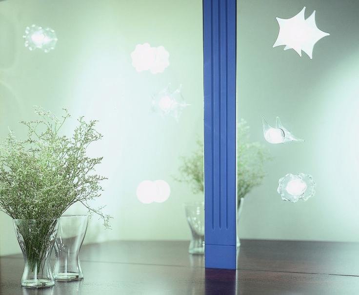 Pasticcini - create your own sky with Stella, Luna, Pianeta, Sole (Star, Moon, Planet, Sun) lights in hand-made blown glass. Made in Italy. Design Pepe Tanzi. www.album.it