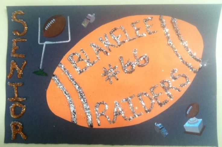 Senior football locker sign