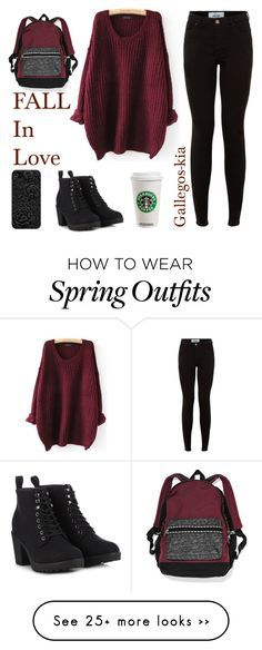 """""""Fall school outfits! Monday!"""" by gallegos-kia on Polyvore featuring Call it SPRING"""