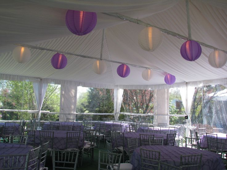 30x40 Frame Tent For Sale Swhite Amp Lavender Paper Lanterns In 30x40 Tent Sis Wedding