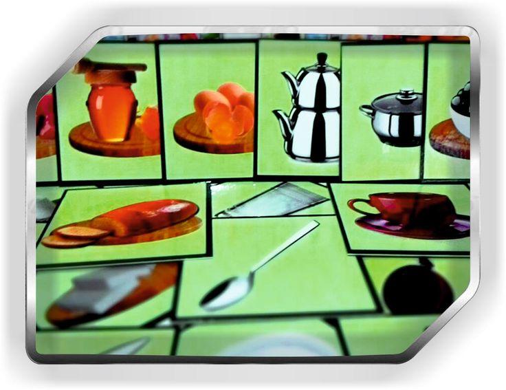 gıda mutfak eşyaları görsel kartları