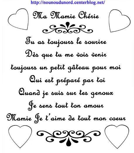 Poème pour la fête des mamies écrit par nounoudunord                                                                                                                                                                                 Plus