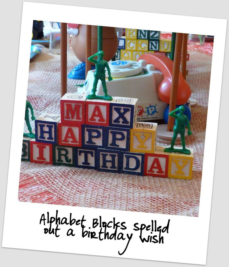 alphabet blocks for toy story party