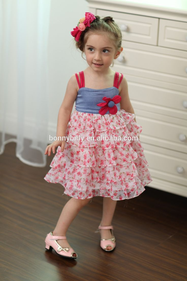 Kids Clothing Wholesale Ruffled Chil Dress Of 3 Years Old