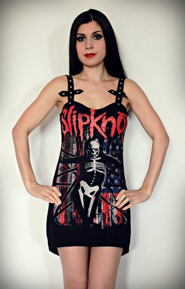 Buy Slipknot Shirt Tunic Top Mini Dress Metal Band Tee Rock by KittyVamp Designs at I Am Attitude