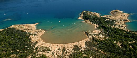 Die Sahara-Bucht in Kroatien.