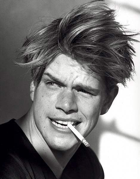 Young Matt Damon....