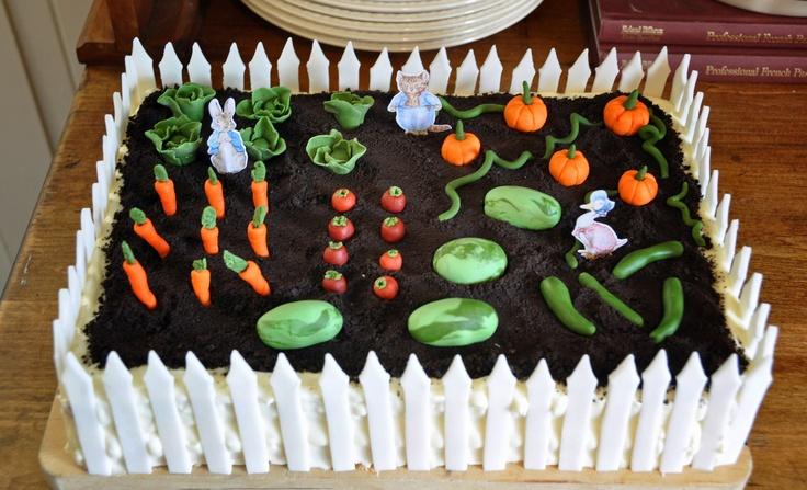 Peter Rabbit Garden Cake!