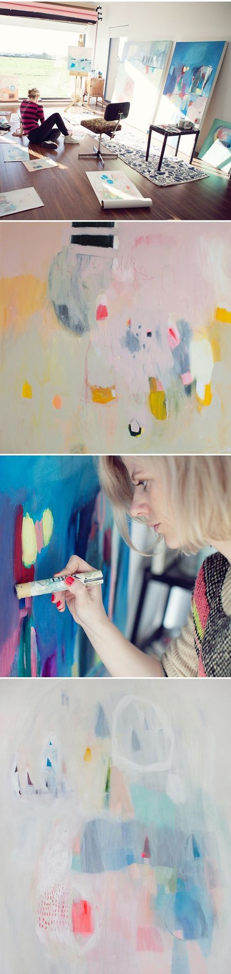 Lola Donoghue - Her abstract paintings and the most incredible studio I've ever seen... in Ireland no less. #artist #studio