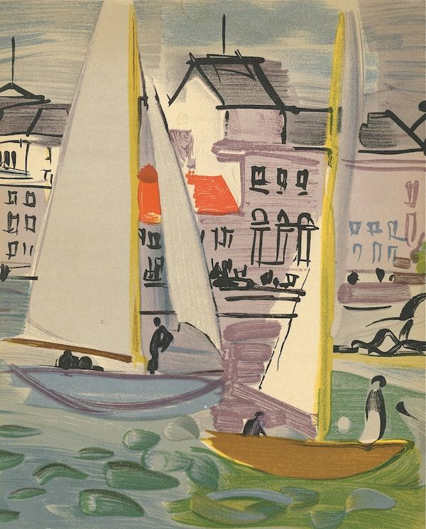 Raoul Dufy. love sailboat art of all types, then place them near each other. for beach house that is.