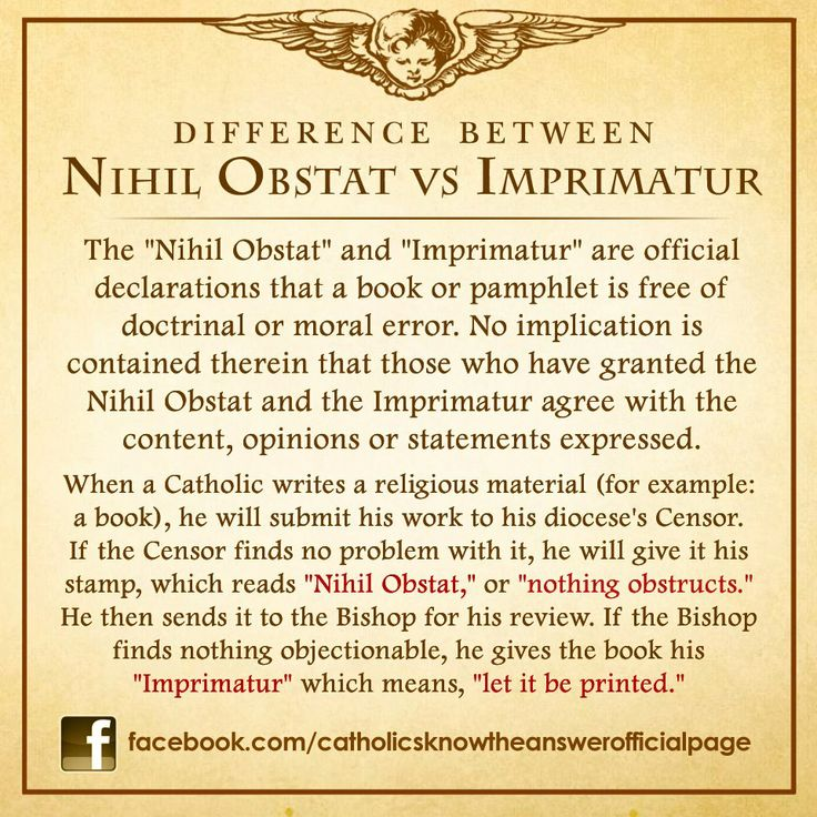 Nihil Obstat vs Imprimature ever wonder which are Catholic books you can trust?
