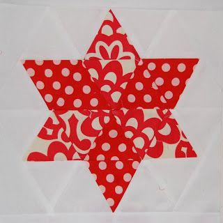 BLONDE DESIGN: Make - Quilted 6 Pointed Star