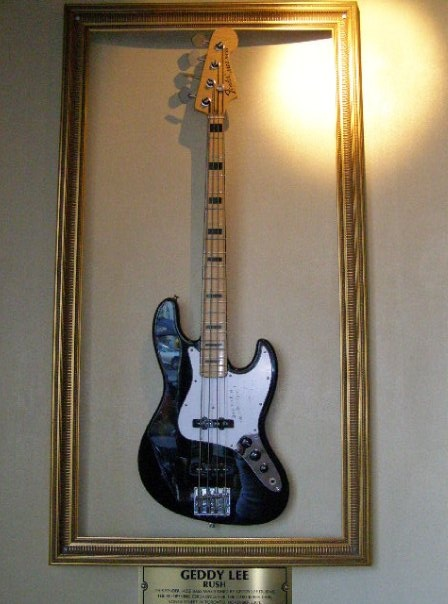 Geddy's  bass at the Hard Rock Hotel Toronto