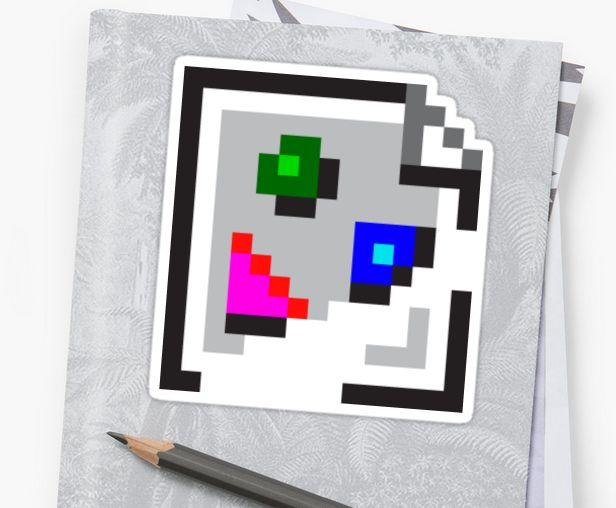 http://www.redbubble.com/people/bembureda/works/22862790-broken-image-icon?p=sticker&size=small&size=small #sticker #borken #image #icon #geek #gadget #cats #skateboard #computer #laptop #sticky