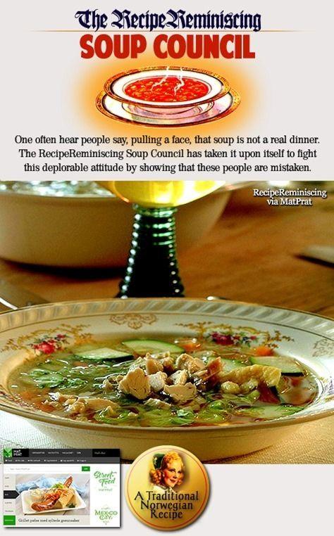 Chickens Soup with Dumplings / Hønsesuppe med Melboller