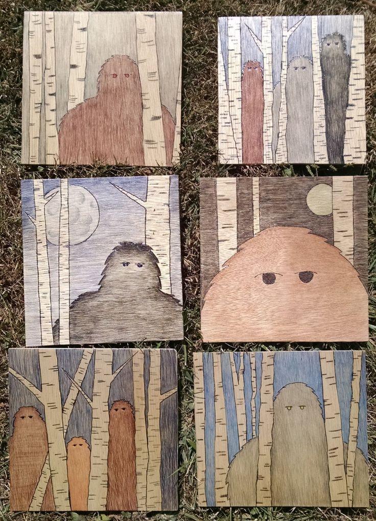 Bigfoot/Sasquatch Wood Prints by Sqwatchout on Etsy