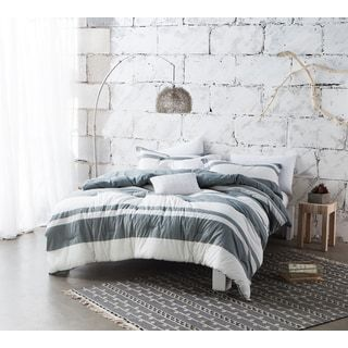Shop for BYB Sunset Grey Stripe Comforter (Shams Not Included) - Grey/White. Get free delivery at Overstock.com - Your Online Kids' & Teen Bedding Store! Get 5% in rewards with Club O! - 21336729