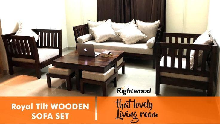 Living Room Wooden Sofa Set Designs