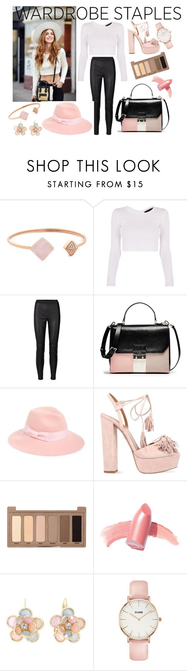 """""""#wardrobestaple2"""" by aliss90 ❤ liked on Polyvore featuring Michael Kors, August Hat, Aquazzura, Urban Decay, Elizabeth Arden, Mixit, CLUSE and WardrobeStaple"""