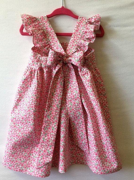55efcf685a63 Flower Girl Dress Little Girl Dress Baby Girl Dress Roses