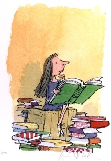 Matilda by Roald Dahl, illustrated by Quentin Blake. Every 3rd grader I know loves this book!