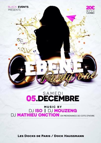 Ebene party one  samedi 5 décembre 2015