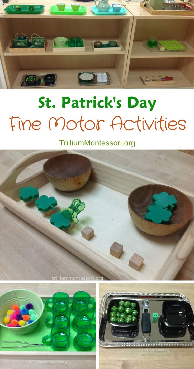 St. Patrick's Day Fine Motor Activities - trilliummontessori.org — trilliummontessori.org