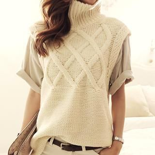 Buy 'NANING9 – Turtleneck Sleeveless Knit Top' with Free International Shipping at YesStyle.com. Browse and shop for thousands of Asian fashion items from South Korea and more!