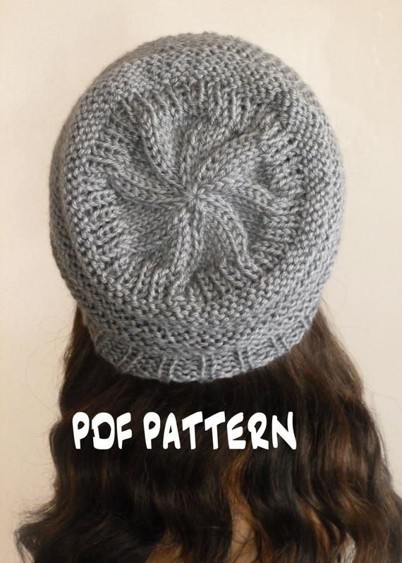 33d8fc4aba0463 INSTANT DOWNLOAD Knitting PATTERN Slouchy Hat Slouchy Beehive | Etsy ...