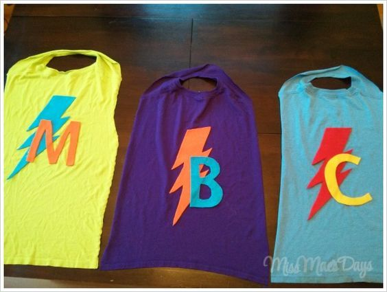 Super Hero Capes made from t-shirts. Super fast and SO CUTE!
