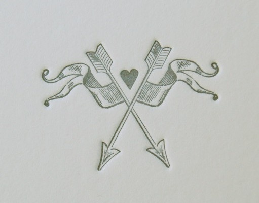 Wedding Invitation #letterpress #weddingcrest #room13design