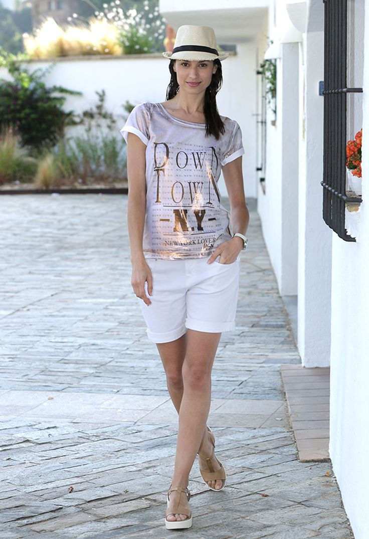 Camiseta mujer Down Town NY. #streetstyle #massana