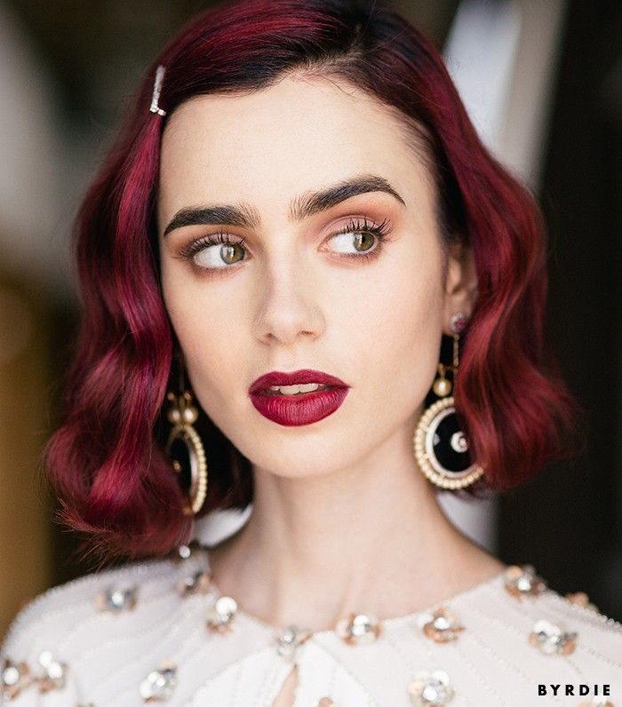 Exclusive: Lily Collins Shows Us How to Get Ultra-Pretty Rosebud Lips via @ByrdieBeauty