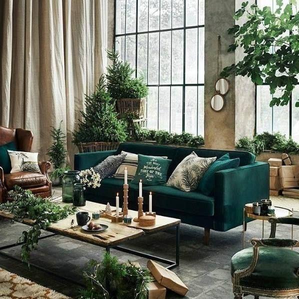 47 Inspiring Emerald Green Sofa Designs For Living Room House Interior Home Green Sofa Design Green sofa living room decor