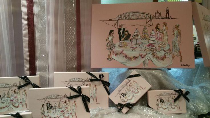 Scatole di cioccolatini con l'immagine del quadro