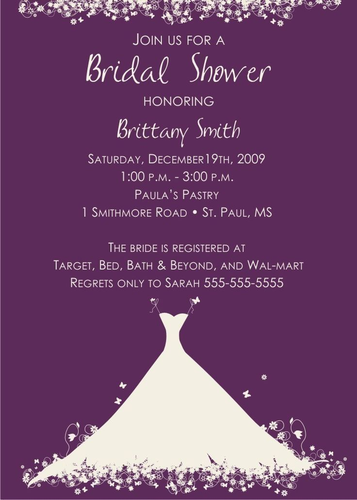 17 Best ideas about Bridal Shower Invitation Wording – Examples of Wedding Shower Invitations